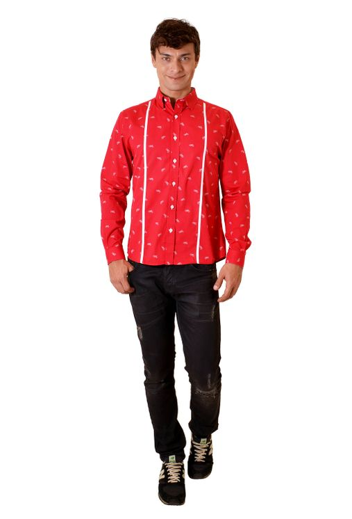 Camisa-casual-masculina-slim-algodao-fio-60-vermelho-f01612s-4