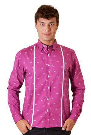 Camisa-casual-masculina-slim-algodao-fio-60-roxo-f01612s-1
