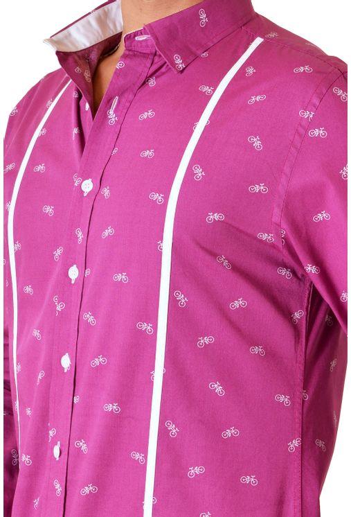 Camisa-casual-masculina-slim-algodao-fio-60-roxo-f01612s-3