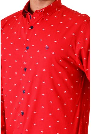 Camisa-casual-masculina-slim-algodao-fio-60-vermelho-f01528s-3