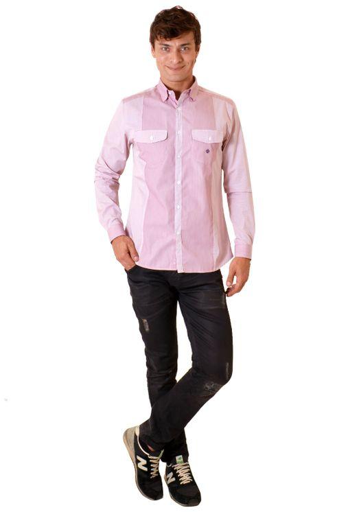 Camisa-casual-masculina-slim-algodao-fio-80-vermelho-f00793s-4