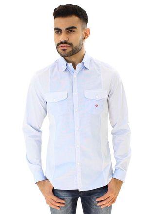 Camisa-casual-masculina-slim-algodao-fio-80-azul-f00793s-1