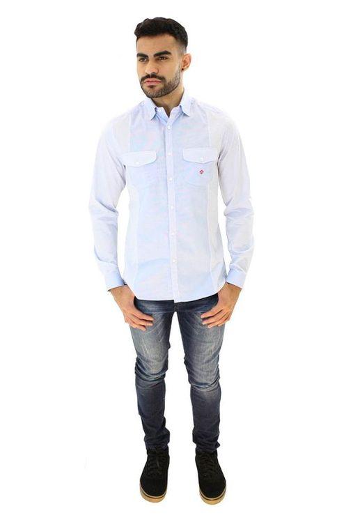 Camisa-casual-masculina-slim-algodao-fio-80-azul-f00793s-4