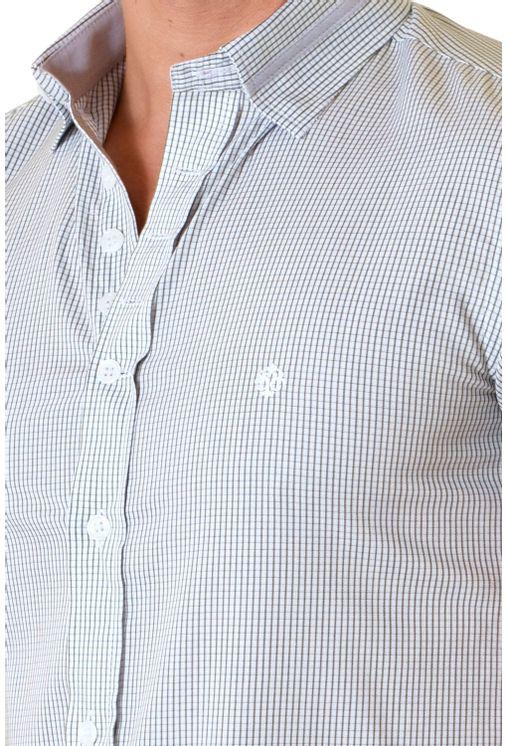 Camisa-casual-masculina-slimfit-algodao-fio-60-verde-f01398f-1