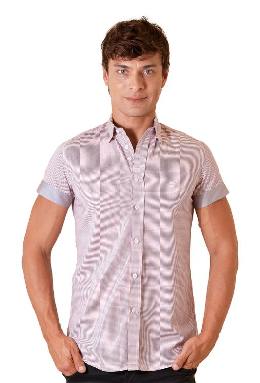 Camisa-casual-masculina-slimfit-algodao-fio-60-vermelho-f01398f-1