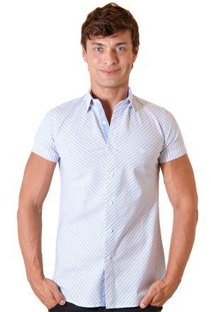 Camisa-casual-masculina-slimfit-algodao-fio-60-azul-f01399f-1