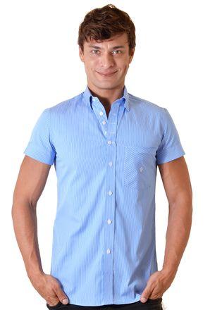 Camisa-casual-masculina-slimfit-algodao-fio-60-azul-f01421f-1