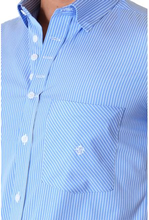 Camisa-casual-masculina-slimfit-algodao-fio-60-azul-f01421f-3