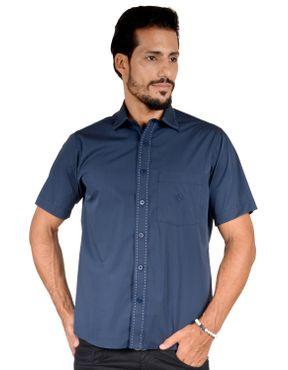 5f0b1bb674 Camisaria Fascynios Oficial · Camisa Casual Masculina · Algodão Fio 60. Camisa  casual masculina tradicional algodão fio 60 azul escuro f01272a 01 ...