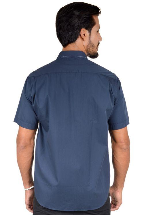 Camisa-casual-masculina-tradicional-algodao-fio-60-azul-escuro-f01272a-2
