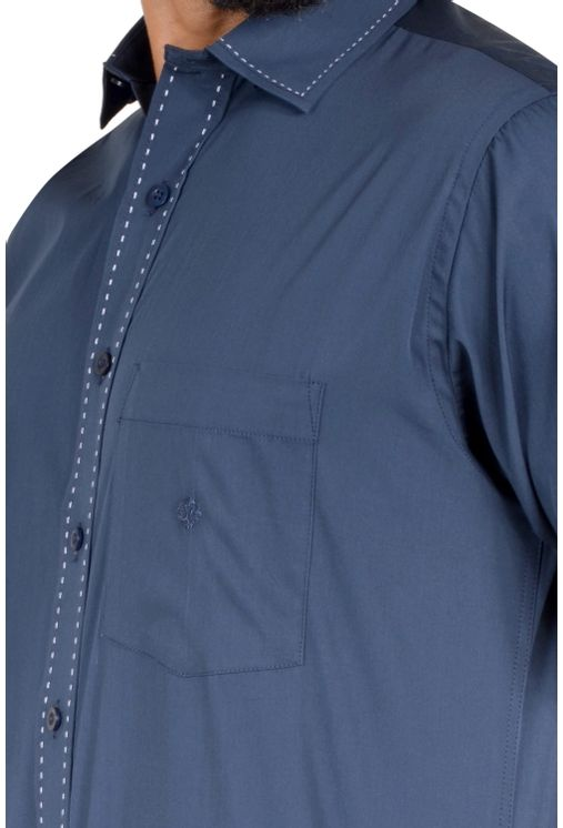 Camisa-casual-masculina-tradicional-algodao-fio-60-azul-escuro-f01272a-3