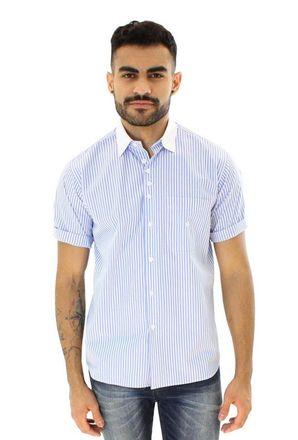Camisa-casual-masculina-tradicional-algodao-fio-80-azul-claro-f01270a-1