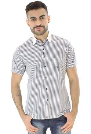 Camisa-casual-masculina-tradicional-algodao-fio-80-azul-escuro-f01270a-1