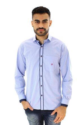 Camisa-casual-masculina-tradicional-algodao-fio-50-azul-f01117a-1