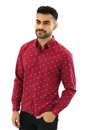 Camisa-casual-masculina-tradicional-algodao-fio-50-vermelho-f01528a-1