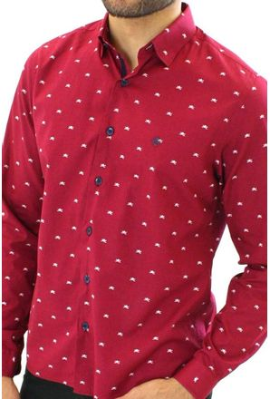 Camisa-casual-masculina-tradicional-algodao-fio-50-vermelho-f01528a-3