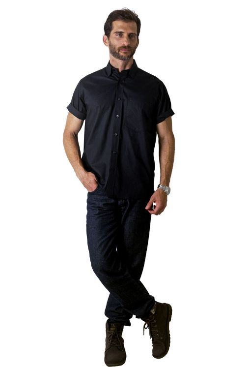 Camisa-social-masculina-tradicional-algodao-misto-preto-f09926a-1