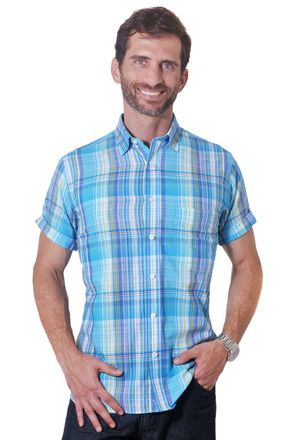 Camisa-casual-masculina-tradicional-algodao-fio-40-azul-f05527a-1