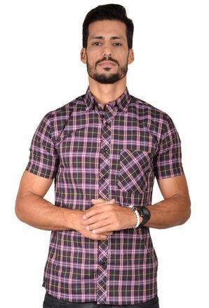 Camisa-casual-masculina-slim-algodao-fio-50-preto-f01371s-1