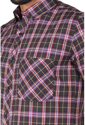 Camisa-casual-masculina-slim-algodao-fio-50-preto-f01371s-3