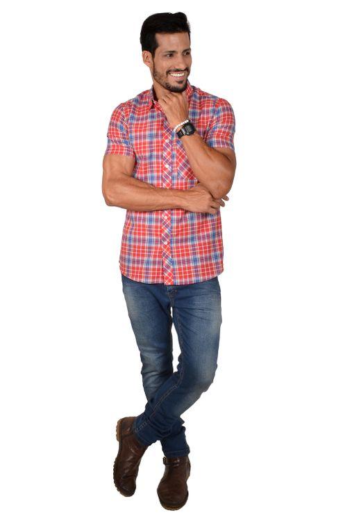 Camisa-casual-masculina-slim-algodao-fio-50-vermelho-f01357s-1