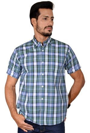Camisa-casual-masculina-tradicional-algodao-fio-50-verde-f04200a-1