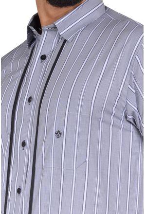 Camisa-casual-masculina-tradicional-algodao-fio-50-cinza-f01197a-3