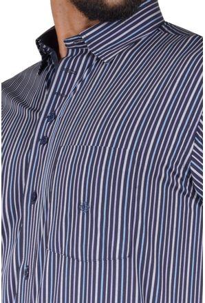 Camisa-casual-masculina-tradicional-algodao-fio-50-azul-escuro-f01463a-3