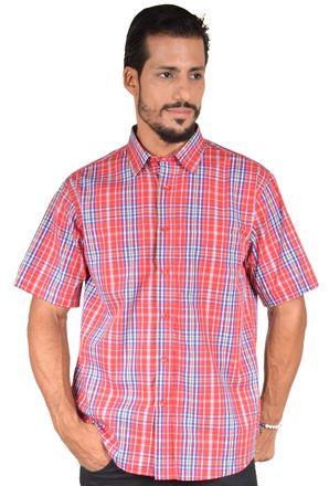Camisa-casual-masculina-tradicional-algodao-fio-50-vermelho-f04337a-1