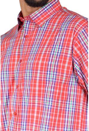 Camisa-casual-masculina-tradicional-algodao-fio-50-vermelho-f04337a-3