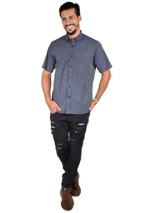 Camisa-casual-masculina-tradicional-algodao-fio-50-preto-f05198a-1