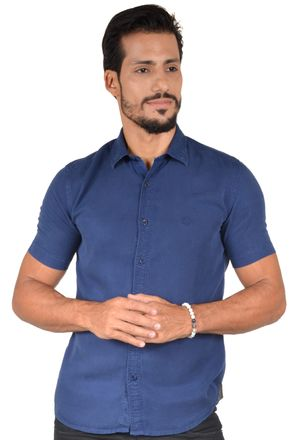 Camisa-casual-masculina-slim-tencel-azul-escuro-r06020s-1