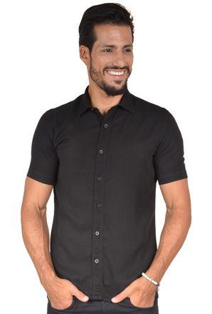 Camisa-casual-masculina-slim-tencel-preto-r06020s-1