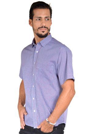 Camisa-casual-masculina-tradicional-algodao-fio-50-vermelho-f04387a-1