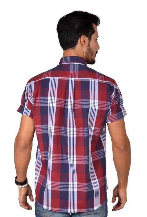 Camisa-casual-masculina-tradicional-algodao-fio-50-vermelho-f04371a-1
