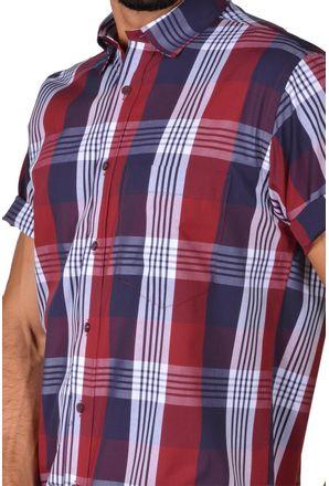 Camisa-casual-masculina-tradicional-algodao-fio-50-vermelho-f04371a-3