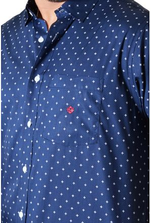 Camisa-casual-masculina-tradicional-algodao-fio-60-azul-escuro-f01783a-3