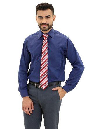 Camisa-social-masculina-tradicional-algodao-fio-100-azul-escuro-f09939a-frente