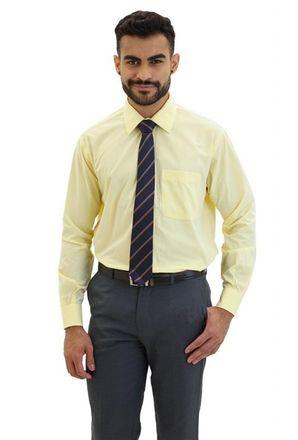 Camisa-social-masculina-tradicional-algodao-fio-40-creme-f09932a-frente