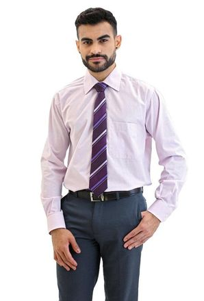 Camisa-social-masculina-tradicional-algodao-fio-40-rosa-f04430a-frente