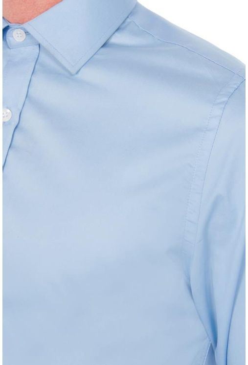 Camisa-social-masculina-slim-algodao-fio-50-azul-claro-f05524s-frente