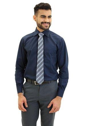 Camisa-social-masculina-tradicional-algodao-fio-40-azul-escuro-f09932a-frente