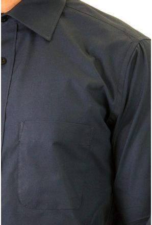 Camisa-social-masculina-tradicional-algodao-fio-40-azul-escuro-f09932a-detalhe1