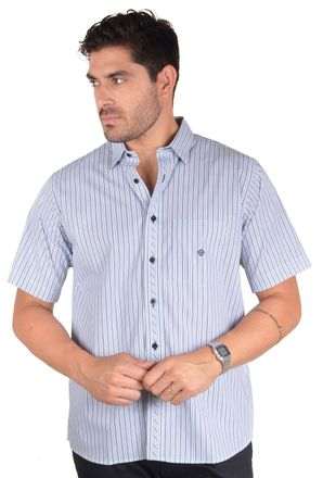 Camisa-casual-masculina-tradicional-algodao-fio-50-verde-f08467a-frente