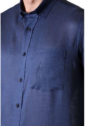 Camisa-casual-masculina-tradicional-linho-azul-escuro-f03943a-detalhe1