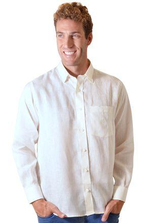 Camisa-casual-masculina-tradicional-linho-creme-f03943a-frente