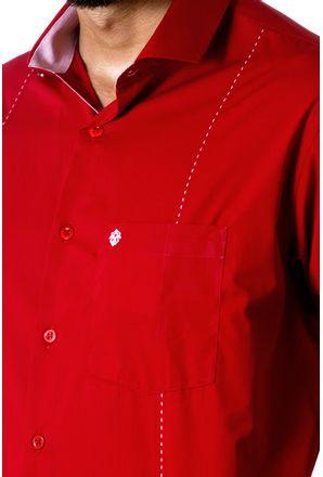 Camisa-casual-masculina-tradicional-algodao-fio-60-vermelho-f01145a-detalhe1