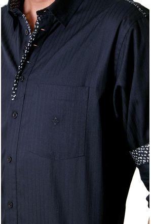 Camisa-casual-masculina-tradicional-algodao-fio-50-preto-f01308a-detalhe1