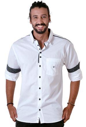 Camisa-casual-masculina-tradicional-algodao-fio-50-azul-escuro-f01315a-frente