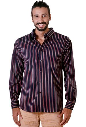 Camisa-casual-masculina-tradicional-algodao-fio-50-roxo-f01315a-frente